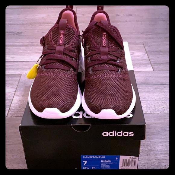fa33a4c7a70e3c Adidas Maroon Cloudfoam Pure Women s Sneakers